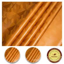Color dorado 100% algodón lentejuelas reversibles Fabirc para mujeres vestido tela textil impresión teñido Guinea Brocade