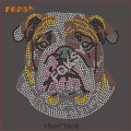 Mère de Bulldog Hot Fix motif de strass