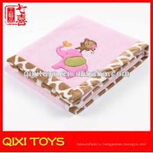 Мягкие детские одеяло ткани с аппликацией супер мягкая ткань для детское одеяло