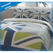 England Flagge Polycotton bedruckte Steppdecke Cover Set
