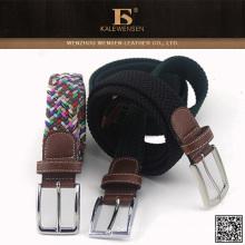 Fashion leisure design canvas knit webbing belt