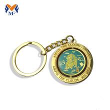 Enamel metal challenge coin keychain  holder