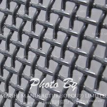 Pantalla de ventana de seguridad de acero inoxidable negro poliéster resistente a la corrosión