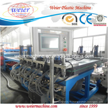 Chaîne de production de panneau de mousse de croûte de peau de meubles en plastique en bois de PVC WPC