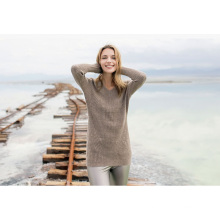 Women′s Cashmere Sweater with V-Neck (13brdw132)
