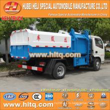 Горячая продажа низкая цена 5m3 NEW dongfeng 4x2 мусор контейнер лифт грузовик дизельный двигатель