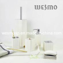 Ensemble de bain en bambou à effet blanc lavé (WBB0303B)