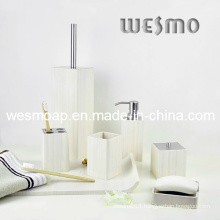 White Washed Effect Bamboo Bath Set (WBB0303B)