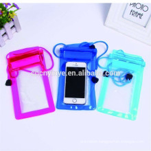 kinds color pvc waterproof bag for mobile phone