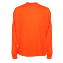 Orange billiges Sicherheits-reflektierendes langes Hülsen-Polo-T-Shirt