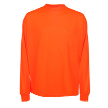 Orange Cheap Safety Reflective Long Sleeve Polo T Shirt