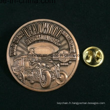Badges acryliques en forme personnalisés promotionnels avec épingle