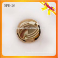 MFB26 Custom fashion metal shank button 2.3cm gold color zinc alloy metal button with electroplating