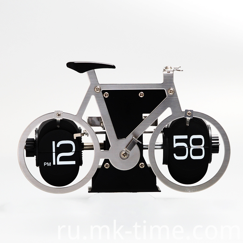 Stain Stell Bicycle Clock