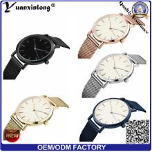 Yxl-172 очаровательная мода Повседневная сетки стальной ремешок часы высокое качество нержавеющей стали наручные часы сетки мужские часы OEM изготовленные на заказ часы