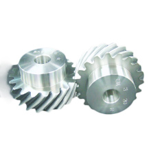 Custom Transmission Helical Screw Gear with Hub