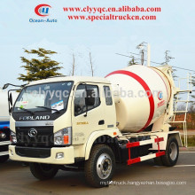 FORLAND 4000L MINI MIXER TRUCK, CONCRETE MIXER TRUCK FOR LOW PRICE