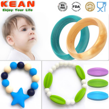 Baby+Teething+Bangle+Silicone+Bracelet