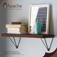 wholesale promotional Multifunction wood and metal wall shelf