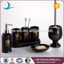 Ensemble d'accessoires de bain en céramique à 7 pièces pour produits vivants