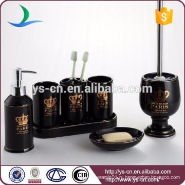 Живущие товары Высококачественная коллекция Набор принадлежностей для керамической ванны из 7 предметов