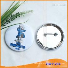 Boutons poussoirs en métal en fer blanc sur mesure BM1128