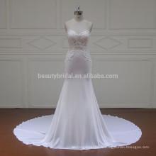 XF16080 parure parfaite belle belle mousseline de soie en mousseline de soie robes de mariée