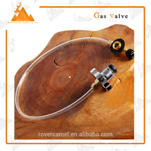 Safety Gas Valve with pipe Eco-friendly camping Gas valve