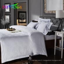 2018 linge de l'hôtel / 400TC blanc hôtel linge de lit draps de lit en coton égyptien