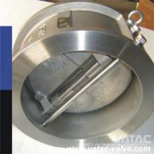Válvula de retención oscilante de doble disco / doble placa A351 CF8m / Ss316