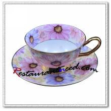 B157 160ml YAMI Chrysantheme Tee Tassen und Untertassen 2 Set