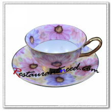 B157 160ml YAMI Chrysanthemum Tea Cups & Saucers 2 Set