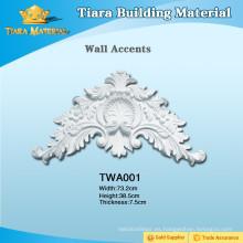 Acentos de pared de poliuretano para decoración de interiores