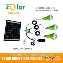 LED Solar Lantern with rechargable battery & USB port for mobile charger