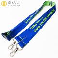 Diy logo detachable plastic buckle smooth lanyard