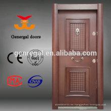 Sala de la casa Armadura de lujo entrada de acero puerta de madera