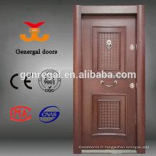 Chambre de la maison de luxe Armor entrée en acier noyau en bois porte