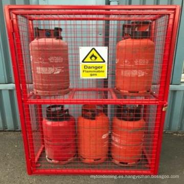 nueva botella de gas propano jaula de seguridad solución de almacenamiento adaptable ver variaciones