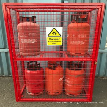 nouvelle bouteille de gaz propane sécurité cage adaptable stockage soluton voir les variations