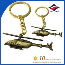 High production miraculous 3D plane keychain for boys