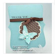Cartão 2014 do projeto da borboleta para o obrigado finalidade
