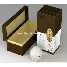Caja de té con cuello de marfil