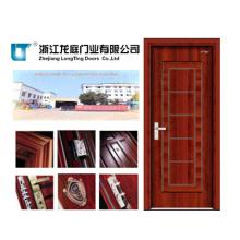 Porta de madeira de aço interior (LTG-114)