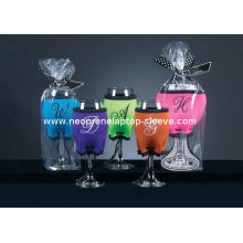 Insulated Neoprene Can Cooler / Wine Glass Cup Holder For Promotion Gift
