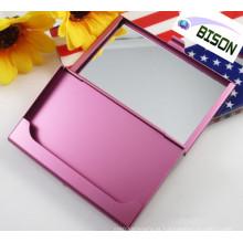 Multifuncional suporte de cartão de alumínio com espelho