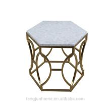 Чайный стол из пресной воды CANOSA с золотой нержавеющей сталью