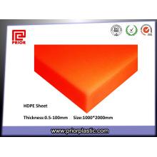 Feuilles de polyéthylène HDPE / feuilles de HDPE extrudé