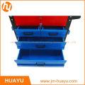 550 lbs en tôle rouge & bleu Heavy Duty roulement outil armoire avec serrure 5 tiroirs