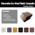 Compuesto plástico de madera eco terrazas suelo de WPC