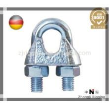 Los accesorios de la cuerda de alambre DIN741 son de acero de alta calidad de alambre de acero galvanizado clip